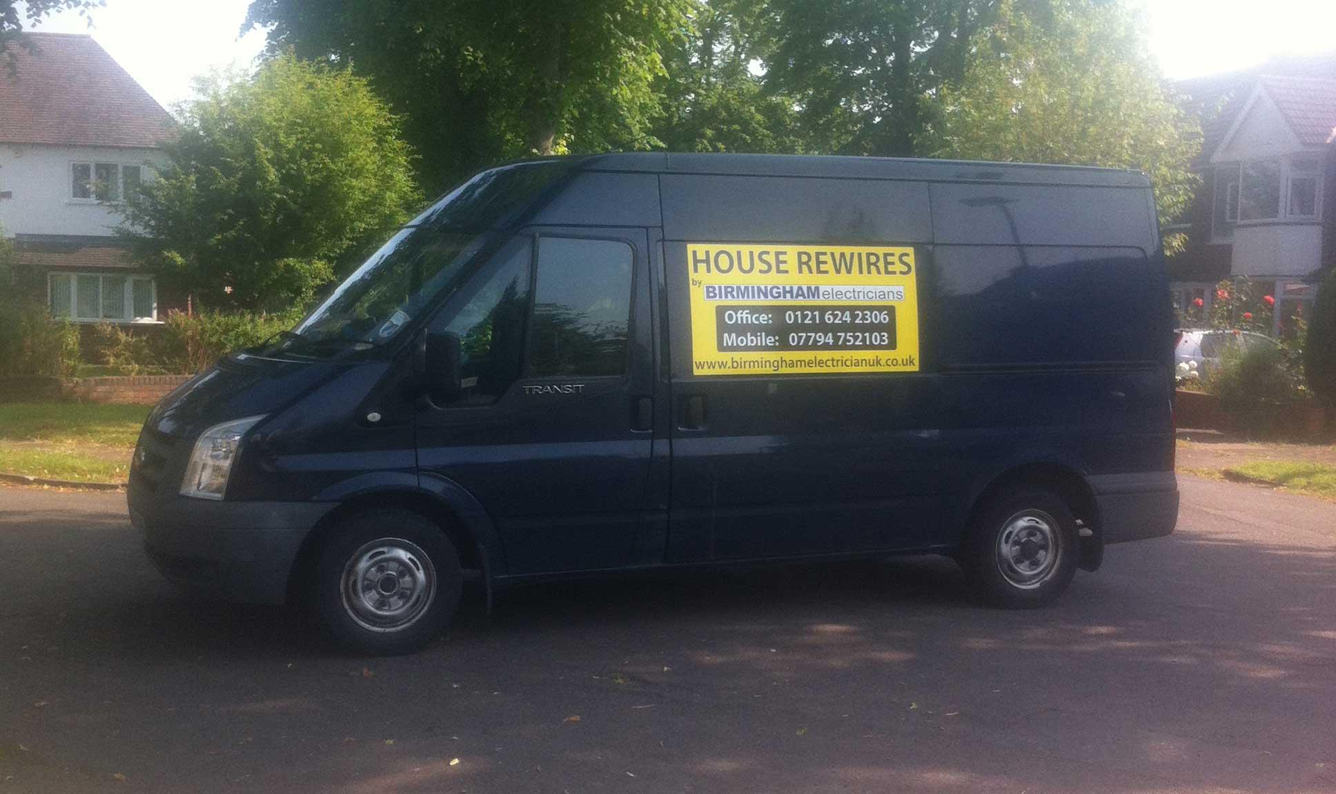 Cost of house rewire electrician Birmingham